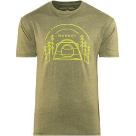 Marmot Camp Outdoor t-shirt Heren olijf